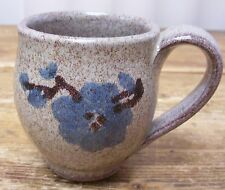 Old Time Pottery Winthrop Washington Blue Flower Coffee Mug Cup 1989 A Round