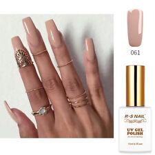 RS Nail Gel Nail Polish UV LED Soak Off Beige Nude Khaki UV Gel Colour 15ml 061