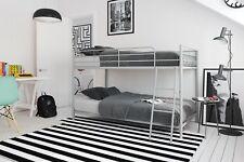 Mainstays Convertible Metal Bunk Bed w/ Bonus 2 Mattresses Twin over Twin silver