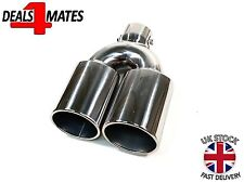 UNIVERSAL TWIN DOUBLE SPORT CHROME EXHAUST PIPE TRIM TIP TAIL STIANLESS STEEL