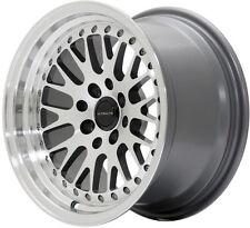 "Ultralite UL10 15"" x 8J ET25 4x100 4x114.3 Gun Metal M/L Mesh alloy wheels Y3490"