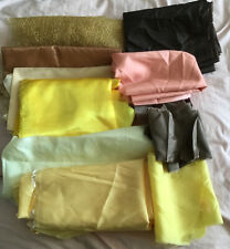 Yellow And Brown Craft Fabric Scraps Remnants Bag