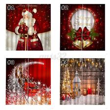 2pcs 3D Printed Window Curtain Drapery Drapes Door Screen Christmas Xmas Decor