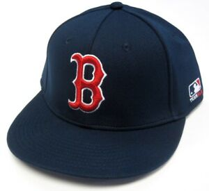 Boston Red Sox MLB OC Sports Proflex Solid Navy Hat Cap Adult Men's Flex Fit