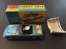 Corgi Toys #318 Lotus Elan S2 With Box