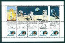TURKS & CAICOS *1990* M/Sheet (5 stamps) *MNH** Moonlanding - Mi.No 871-875KB