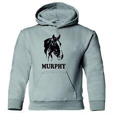 COB HORSE'S Head Adult's Kids unisex Equestrian personalised Hoodie sweatshirt