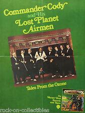 Commander Cody & His Lost Planet Airmen 1975 'Ozone' Original Promo Poster Rare