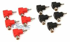 Install Bay RCAMRA-10 RCA Barrel Connector Mini Right Angle (10 Pack)