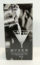 NIB MYXER 24 oz Cocktail Shaker Bar Jigger Stainless Steel Drink Silver Mixer