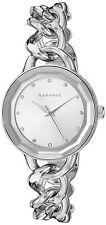 Rampage Women's Silver Dial and Silver Tone Chain Link Bracelet Quartz Watch