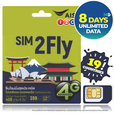 ASIA 8Days UNLIMITED DATA SIM CARD NEPAL AUSTRALIA INDIA QATAR MYANMAR SRI LANKA