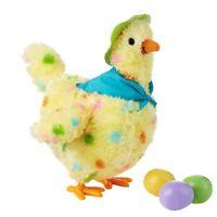 A Hen Funny Chicken Toy Hen Hen Laying Egg Shocked Joke Gift Child Anti-Str Z4O3