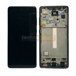 Genuine Samsung A52s 5G (A528B) LCD Assembly  With Frame New Black GH82-26861A