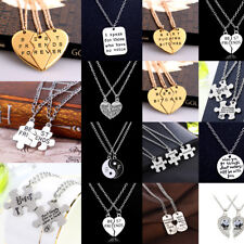 Hot Best Friend Gift Crystal Animal Heart Necklace Pendant Jewelry Friendship