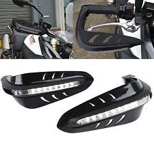 "Black Motorcycle 7/8"" Handlebar Bush Bar Handguard LED Turn Signal Light ATV"