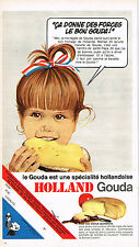 PUBLICITE ADVERTISING 055  1969  GOUDA  fromage HOLLAND