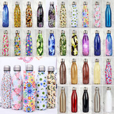 17OZ Double-Wall Water Bottle Vacuum Insulated Cup Stainless Steel Sports Bottle