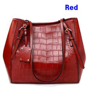 Luxury Ladies Womens Soft Leather Shoulder Bag Tote Purse Handbag