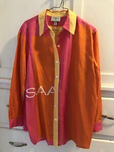 Isaac Mizrahi Target 20th Anniversary Collection 100% Silk Blouse Shirt Size S