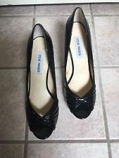 de05a89b0ee3 Steve Madden Black Patent Leather Peep Toe Platform Heels Pawla Size 8.5   NEW