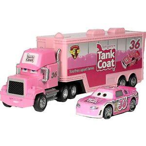 Disney Pixar Cars No.36 Reb Meeker Mack Truck & Car 1:55 Diecast Toys Car Loose