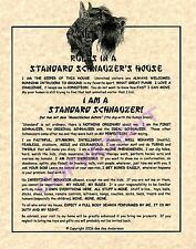 Rules In A Standard Schnauzer's House