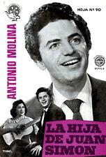 LA HIJA DE JUAN SIMON 1957 (PRESS BOOK BROCHURE ORIGINAL) ANTONIO MOLINA
