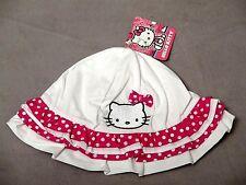 HELLO KITTY by Sanrio Toddler White Ruffle/Polka Dot Sun Hat One Size SUPER CUTE