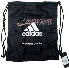 Adidas MARTIAL ARTS Gym Sports Tote Drawstring Pack Nylon Sling Bag Black