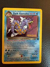 Dark Gyarados Prerelease - 8/82 - Stamped - Holo - Pokemon - Team Rocket Nm