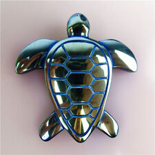 Beautiful Blue Silver Carved Turtle Pendant Bead  43*7mm HTSWG7
