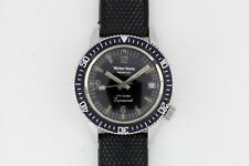 Vintage Wyler Vetta Incaflex Life-Guard Dynawind Diver Watch Stainless Serviced