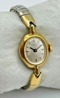 Vintage 1970s/80s Women's TIMEX Mechanical Cocktail Watch, Gold/Silver Tone Runs