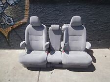 Toyota Sienna 2015 2016 second row  GRAY CLOTH SEATS   new takeouts