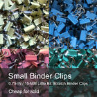 Small Binder Clips Mix Colored 0.75 inch Little bit Scratch Paper Clips 40 PCS