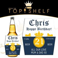 Personalised Corona beer / lager bottle label any name / occasion 710ml size