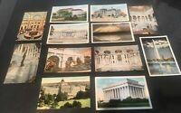 12 Vntg Washington DC Linen Postcards  ,Lib. of Congress , Lincoln ,And Other.