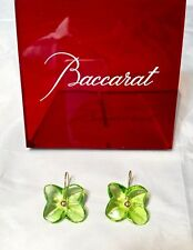 Baccarat Hortensia Earrings Olive - 100043 - Crystal & Gold Orecchini - NEW