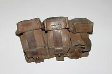Mauser 8mm Leather 3 Cell Ammo Pouch Brown Y31