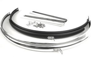 Schutzblech Schutzblechset Aluminium silber schwarz 36 /41mm Urban Rennrad Retro