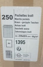 [Ref:1395] GPV Boîte de 250 pochettes kraft brun C4 229x324 90 g/m² autocollant