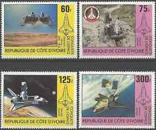 Timbres Cosmos Cote d'Ivoire 573/6 ** lot 254
