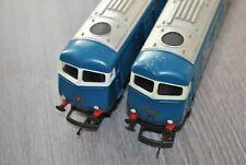 00 gauge Triang Blue Pullman Locomotive 2 Car Set - Power & Dummy - Lot 1