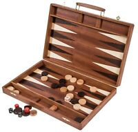 SQUARE - Backgammon 38 Exclusive - aus Holz - Mahagoni