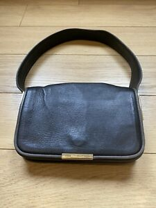 Gorgeous Women's See By Chloe Black Grey Trim Leather Flap Shoulder Bag