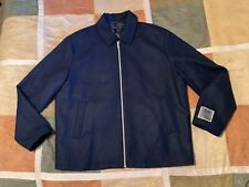 $395 Jack Victor reid navy zip coat jacket XL mens NEW