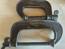 Vintage Sargent & Co. No. 15 and 3 Bat Wing C-Clamp old shop tool