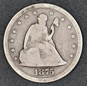 1875-S Liberty Seated Twenty Cent .20