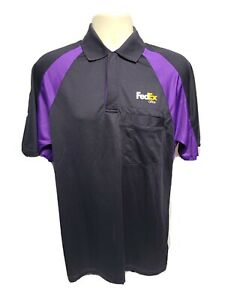 FedEx Office Polo Stan Herman Work Employee Uniform Adult Medium Black Shirt